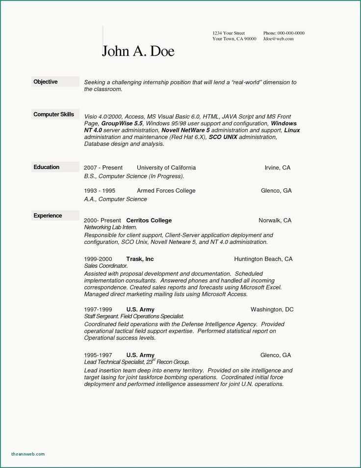Computer Science Resume Entry Level Best Of 10 Puter