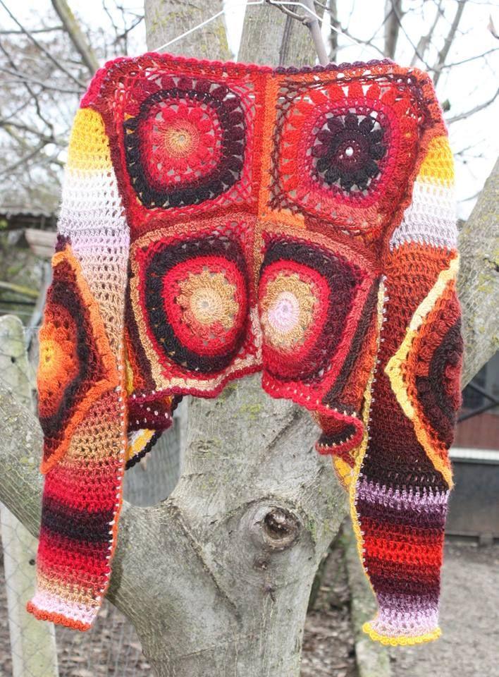 short crocheted jacket