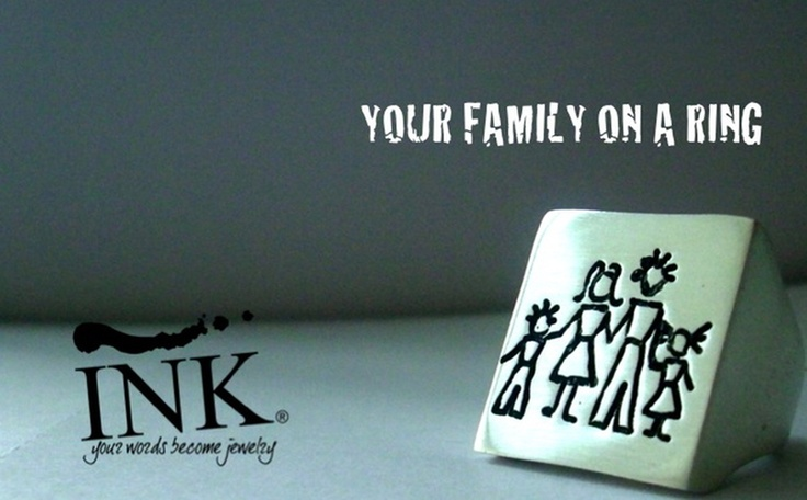 Engraving your INK family on a ring www.inkproject.it