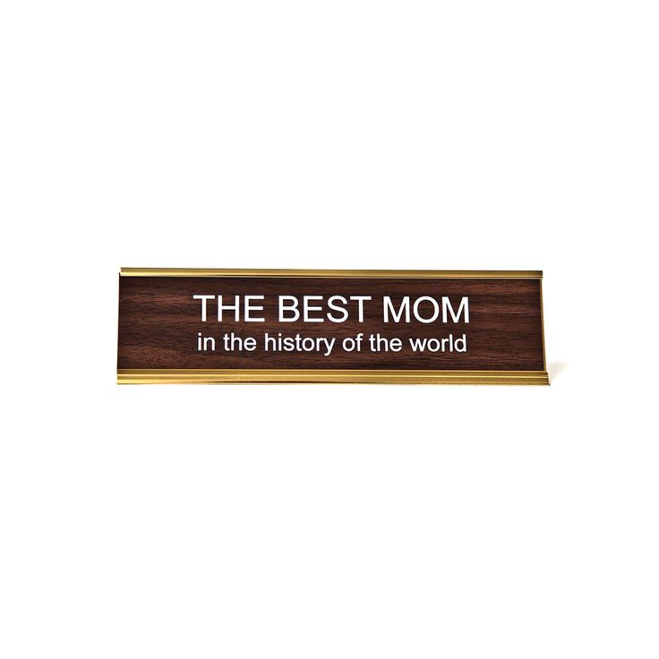 The Best Mom Nameplate