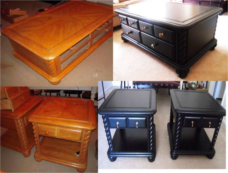 painting a coffee table black 2