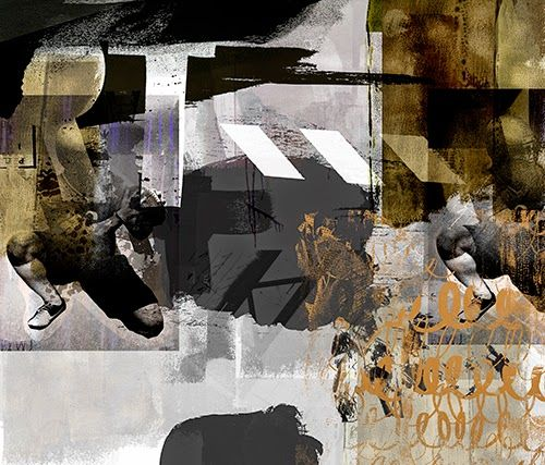 Rugby, mixed media, by Kristin Berg Johnsen