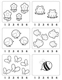 Counting Worksheet: Count and encircle the correct number. // Ficha para contar…