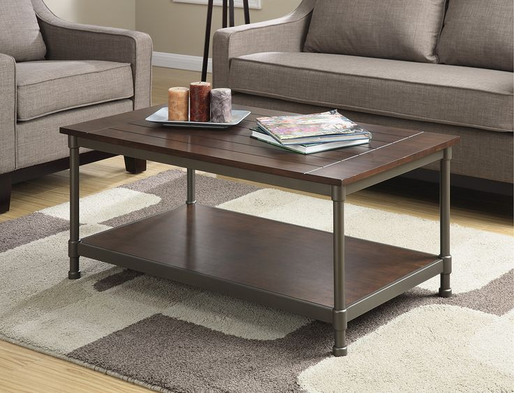 Inspired By The Industrial Solid Plank Work Stations Of A Century Ago, This  Well Worn Wood And Cast Metal Coffee Table Will Add A Worthy Statement To  Your ...