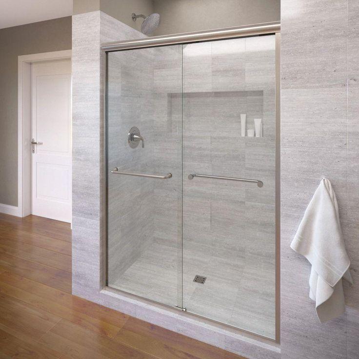 Perfect Frameless Shower Door Hardware Polished Nickel Schiebet ren Duscht renBadewanne T renRahmenlos Duscht renKleines Badezimmer