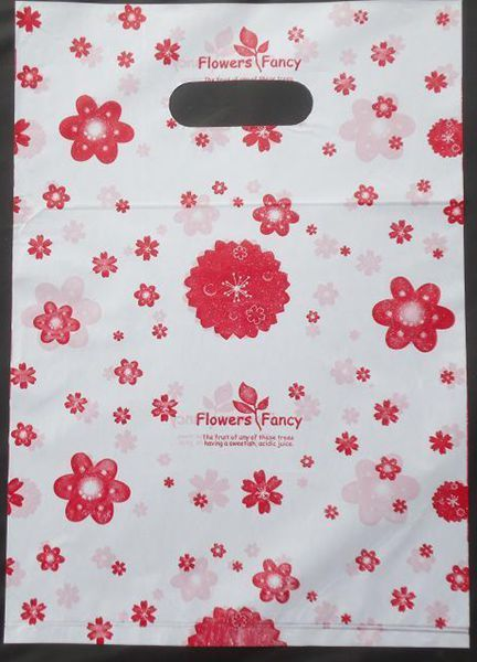 100pcs/lot Colorful plum blossom Plastic bags Wholesale Carrier bags Packing shopping bags 20*15cm 152015 #Affiliate