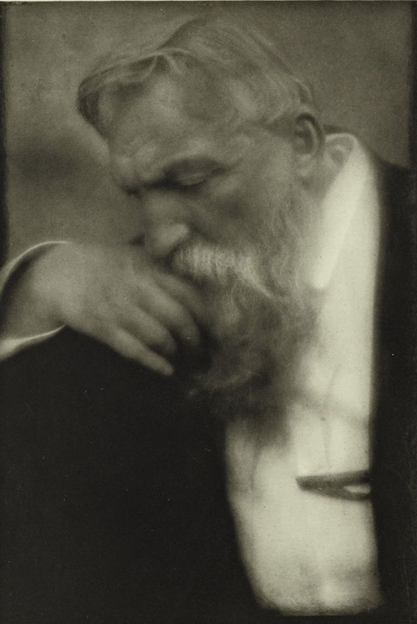 Auguste Rodin, 1907 by Edward Steichen -- a French sculptor. Rodin is generally considered the progenitor of modern sculpture. Sculpturally, Rodin possessed a unique ability to model a complex, turbulent, deeply pocketed surface in clay. Many of his most notable sculptures were roundly criticized during his lifetime. They clashed with the predominant figure sculpture tradition, in which works were decorative, formulaic, or highly thematic.