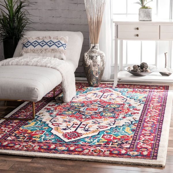 Traditional Madge Manorial Medallion Multi Area Rugs 8 Feet By 10 Feet 8 X  10
