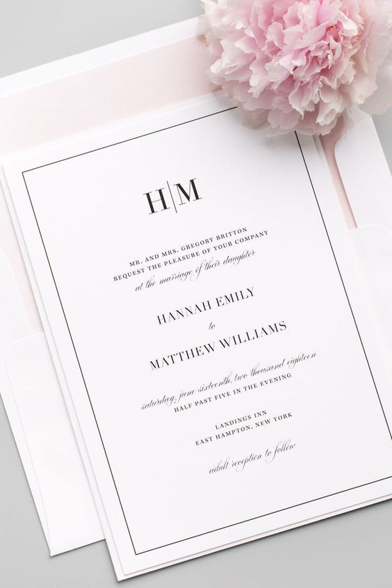 glam monogram wedding invitations - Weddings Invitations