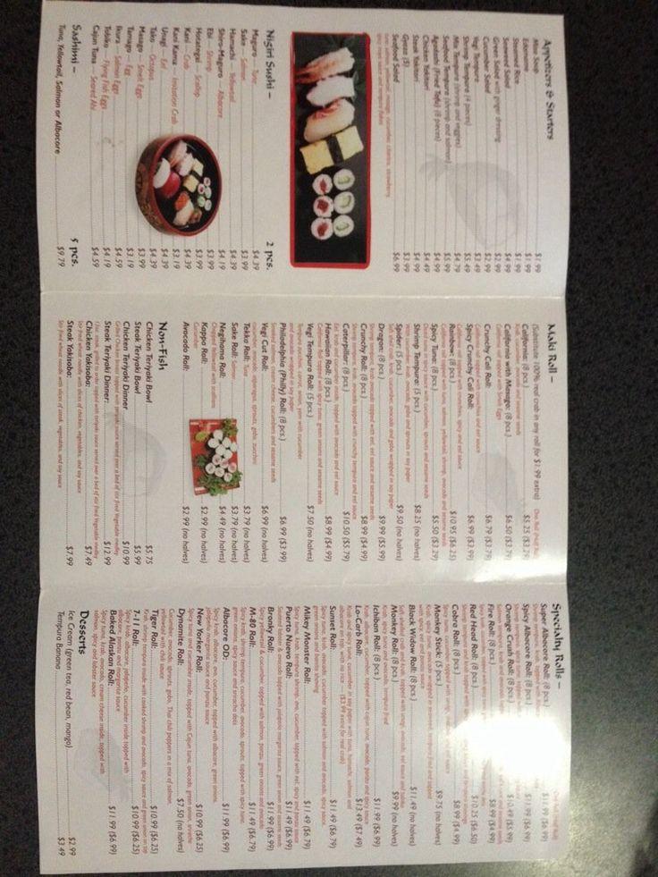 Rock N Roll Sushi - Menu side 2 - Carlsbad, CA, United States