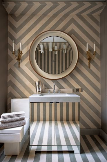 The mirrored bathroom vanity!