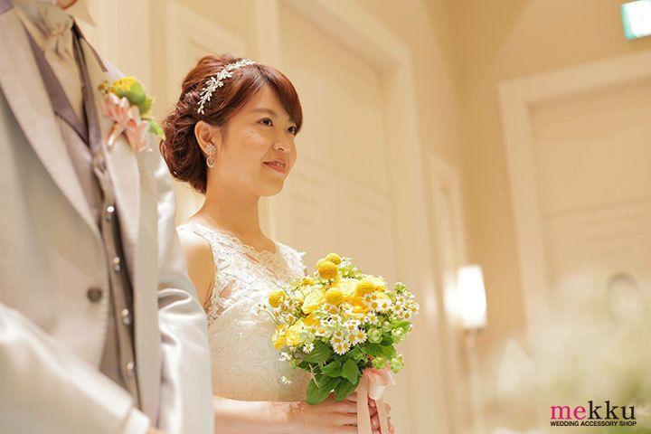 埼玉県A,K様~人気のラリエット風リーフヘッドドレスとイヤリングをご使用いただきました。 | ウェディングアクセサリー専門店 mekku の日記