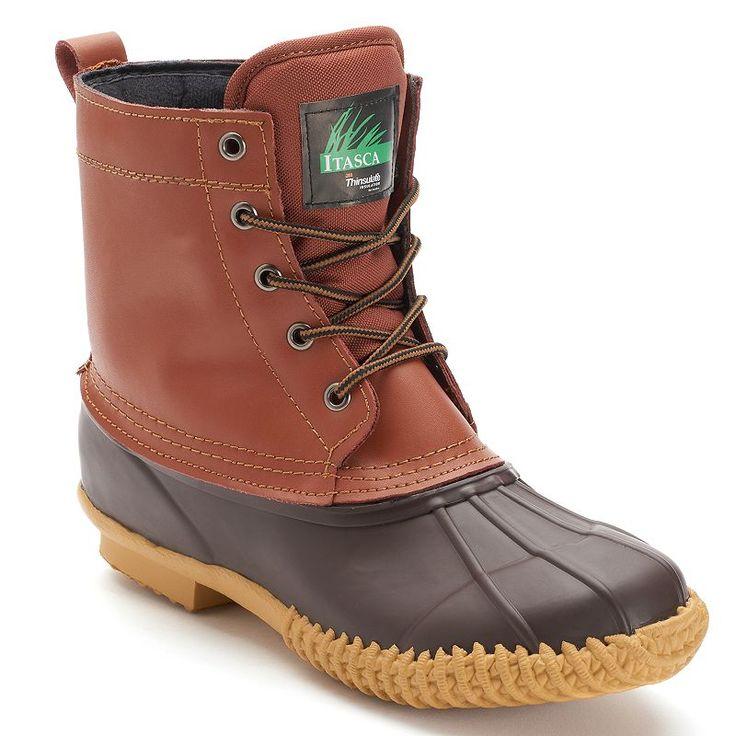 Itasca Ely 5 Eye Men's Waterproof Winter Boots, Size: 14, Brown