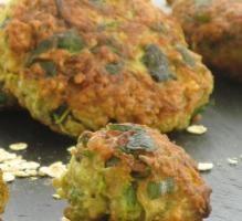 Recette - Galettes de flocons d'avoine oignons et courgette - Notée 4.2/5 par les internautes
