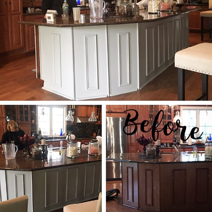 Kitchen Transformations: Putty By Fusion Mineral Paint Kitchen Island