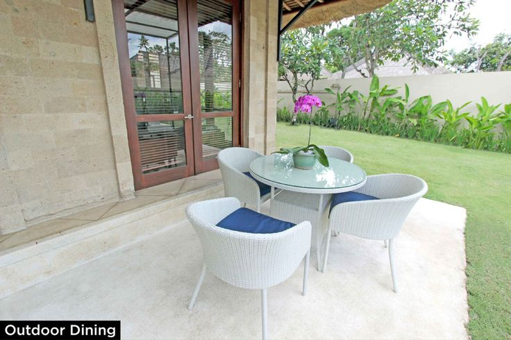 Outdoor Dining • PRIVATE POOL VILLA ON SANUR, BALI • FOR SALE • 800m2 land area • 2 Bedroom villa with private pool • Gated estate with expatriate villas • 24 hours security • 500 metres from bypass Sanur • 25 years leasehold • For Enquiries: (+62) 0819 9941 1123 • Email: info@villakambojasanur.com
