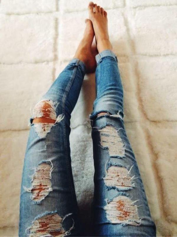Как из обычных джинсов сделать дизайнерские
