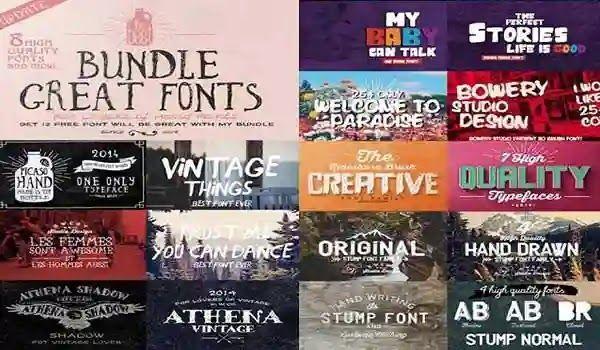 خطوط انجليزية 2020 Fonts En مجموعة خطوط إنجليزية جديدة لكتابة العناوين المميزة وتصميمات البوسترات Creative Fonts Great Fonts Creative