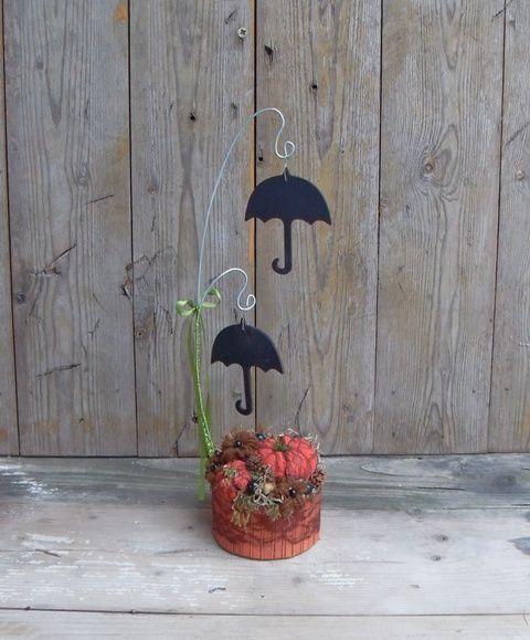 Táncoló esernyők - őszi asztaldísz, Dekoráció, Otthon, lakberendezés, Meska
