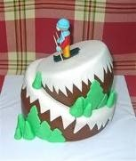 ski fondant cake-- my ski cake was better! :-P