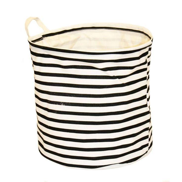 Nautical Striped Laundry Bag Storage Basket S