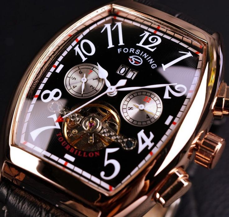 Rose Gold Case Mens Watch Automatic Watch