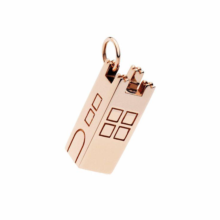 Oro rosa 9k Oro rosa 9k torre tower collana rose gold shine briliant civita queriot componibili regalo fashion jewellery