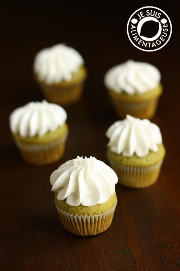 Green Tea Cupcakes, inspired by Starbucks' Green Tea Frappucino