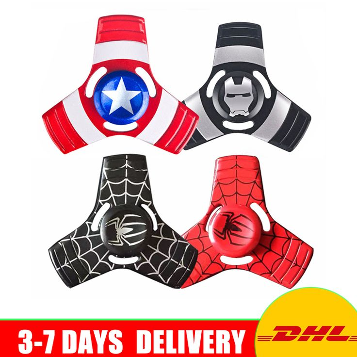 50 pcs/lot DHL Free Shipping Tri-Spinner Fidgets Toy Metal EDC Sensory Fidget Spinner For Autism and ADHD Funny Anti Stress Toys #Affiliate