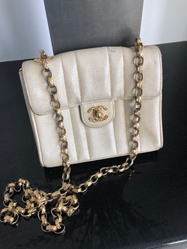 ba7cae67f24a Details about chanel handbag authentic used Vintage Crossbody Bag in ...