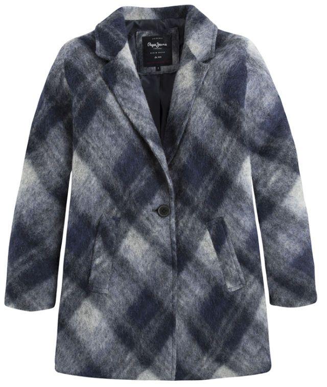 Taglio pea coat per il cappotto base grigia e madras obliquo, Pepe Jeans London  -cosmopolitan.it