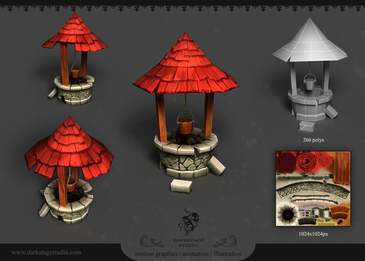 Well - 3D game prop by YairMor.deviantart.com on @deviantART