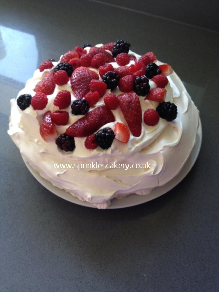 A delicious summer fruits meringue whipped up for a family Sunday Lunch.