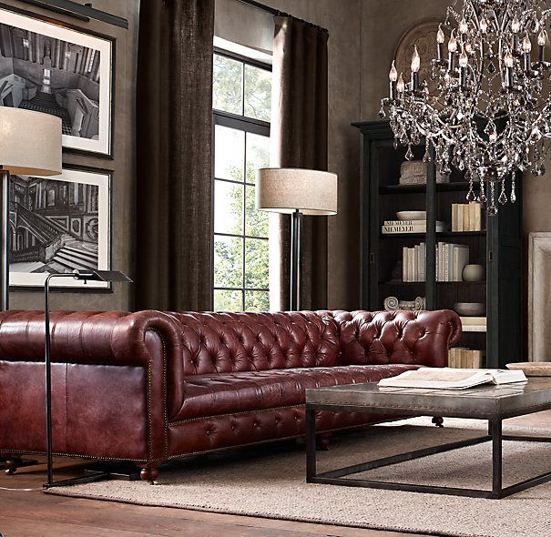 Restoration Hardware Sofa Collection: CAMBRIDGE LEATHER SOFA From RH