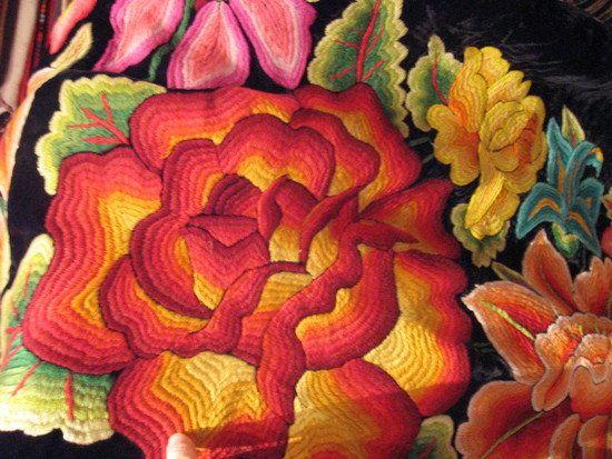 Oaxaca embroidery, Oaxaca, Mexico. Photo by Lambs