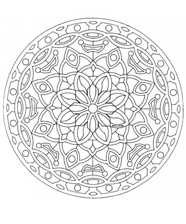 126 best Mandala 2 images on Pinterest Mandalas, Mandala coloring - best of mini mandala coloring pages