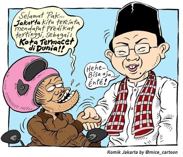 Mice Cartoon, Komik Jakarta - Februari 2015: Jakarta, Kota Termacet Di Dunia