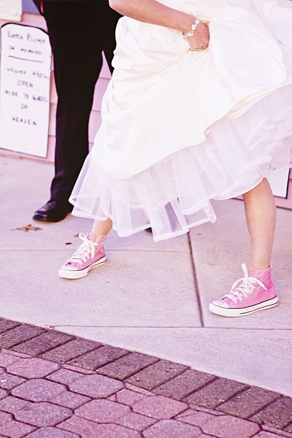 pink wedding sneakers