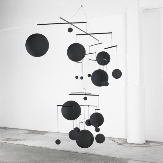Xavier Veilhan black dot mobile sculpture