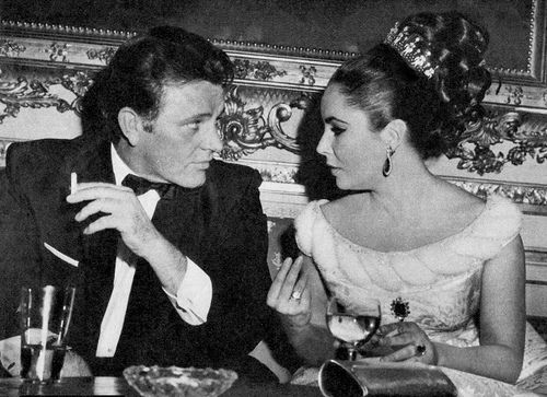 "Elizabeth Taylor and Richard Burton during the filming of ""The VIPs,"" 1963 ... by vatican56, via Flickr"
