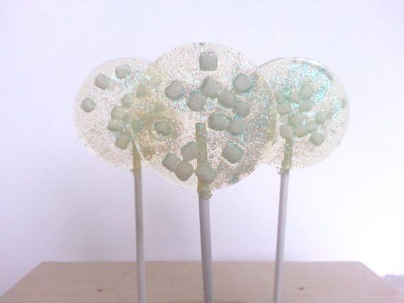 Marshmallow Lollipops Hard Candy Lollipops by SweetCarolineConfect, $18.00