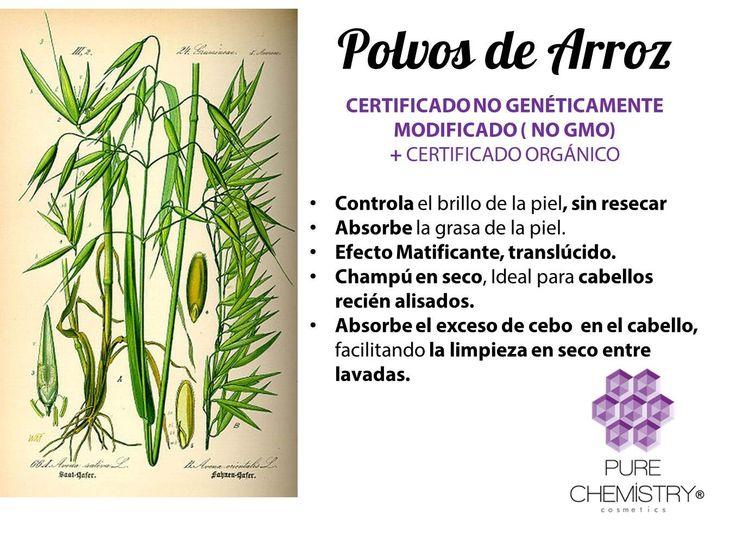 Polvos de Arroz entero orgánico NO GMO, ideal para aplicar como polvos translúcidos y para recetas caseras para la piel