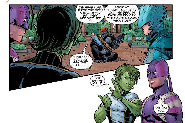 Teen Titans 21 Monsieur Mallah The Brain Garfield Logan -2273