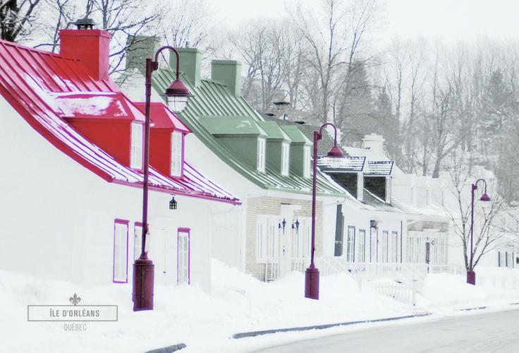 Nptre village, Saint-Jean de l'île d'Orléans, en plein mois d'hiver