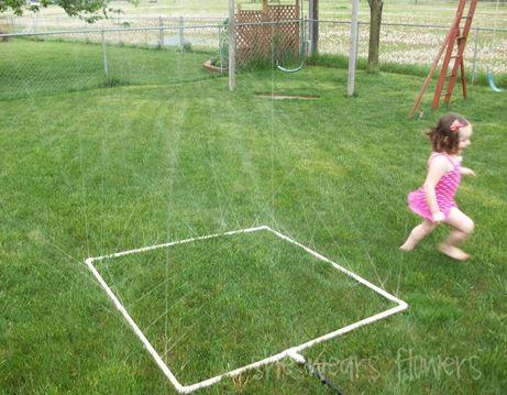 Homemade Sprinkler: Water Sprinkler, Water Fun, For Kids, Summer Gifts, Homemade Sprinkler, Pvc Sprinkler, Summer Fun, Pvc Pipes Sprinkler, Diy Sprinkler