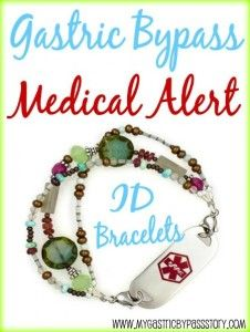 Gastric Bypass Medical ID Bracelet