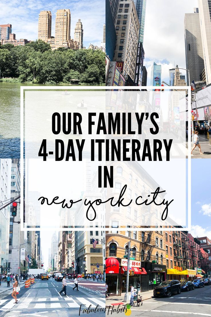 Our 4-Day New York City Itinerary – #4Day #city #I…