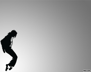 Free Michael Jackson PowerPoint template with gray background