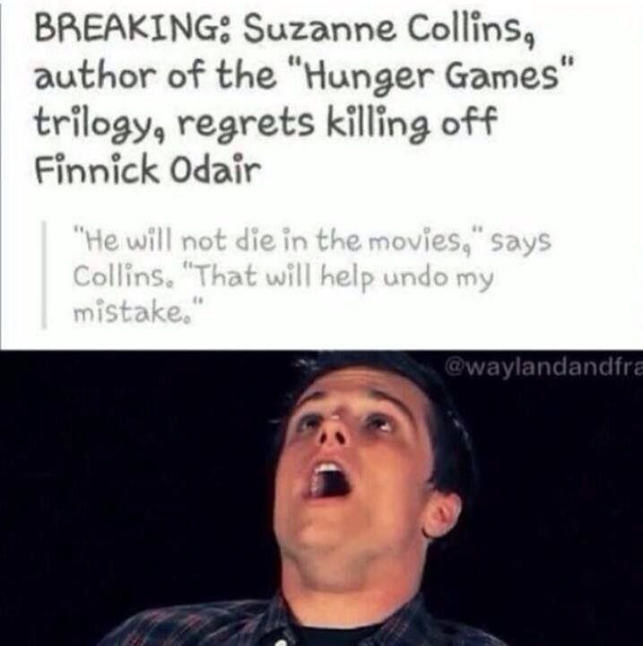 Mockingjay :))) yeah, that's great! We will see him during the entire two movies! <<<< I PRAY THIS IS TRUE<<<<< I wish SO much that he did not die, but I think they should keep that part in the movie. That is such a memorable part of the book and to change it just seems wrong to me...