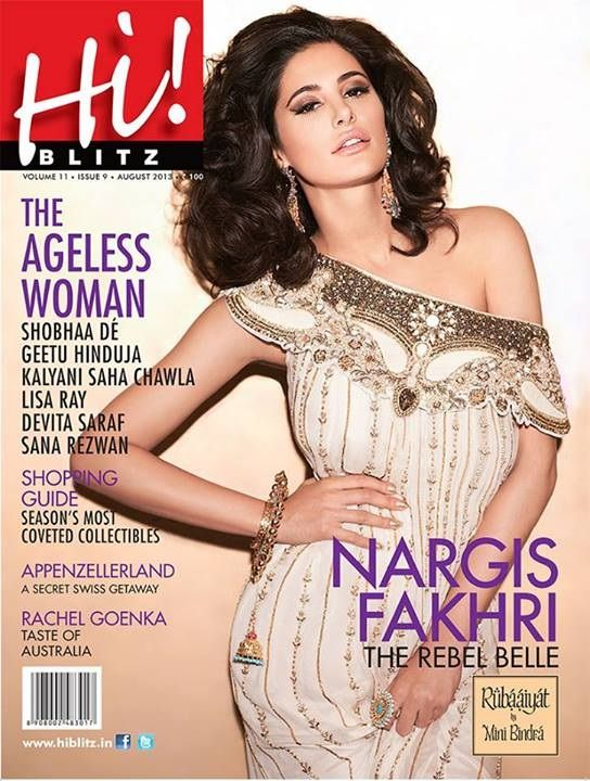 Nargis Fakhri on The Cover of Hi! Blitz Magazine - August 2013.
